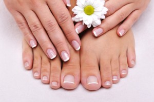 Skincare of a beauty female feet